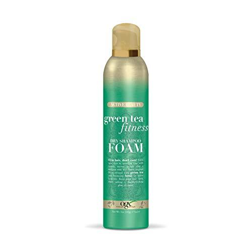 OGX Active Beauty Green Tea Fitness Dry Shampoo Foam, 5 Ounce