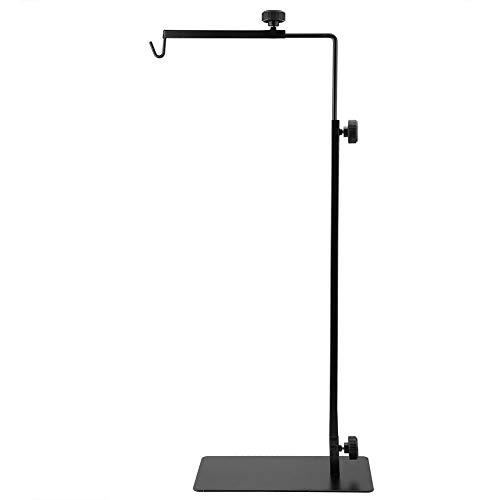 Reptile Lamp Stand, Adjustable Telescopic Metal Floor Lamp Bracket Heating Lamp Holder for Reptile Glass Terrarium Fish Aquarium