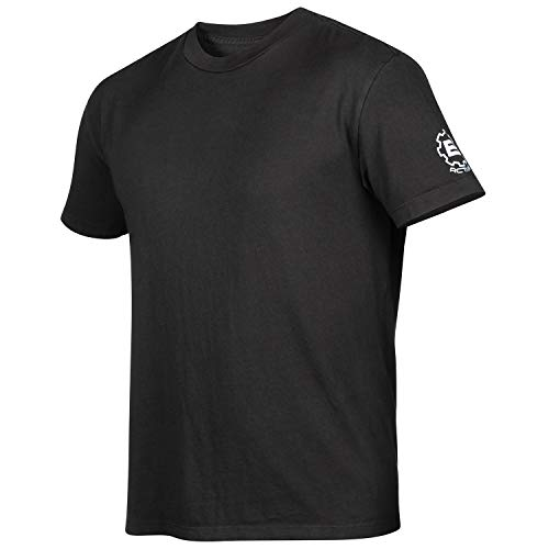 BRU Active Premium Surfing, Kayaking, Outdoor & Surf Tee Shirt for Men - Relaxed Fit Graphic Sports Hiking T Shirt (Medium, Black) ()
