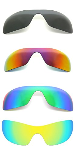 Set of 4 Polarized Replacement Lenses for Oakley Batwolf Sunglasses - Batwolf Lenses Polarized Oakley