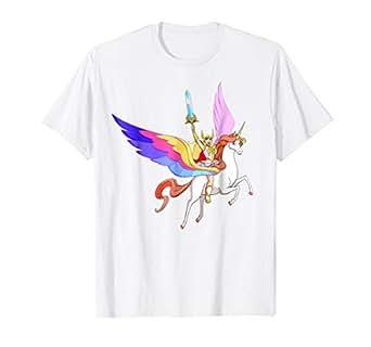 31b8bf66dcde Amazon.com: DreamWorks She-Ra and Swift Wind T-Shirt: Clothing