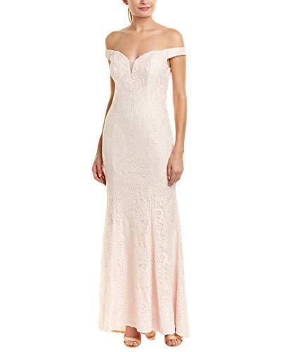 Carmen Marc Valvo Infusion Womens Gown, 8, Pink (Carmen Marc Valvo Wedding)