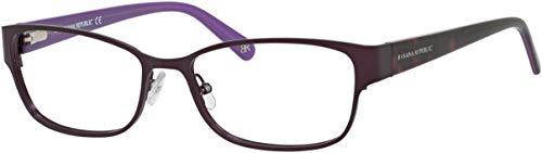Banana Republic Metal Rectangular Eyeglasses 53 0RU6 Semi Matte Plum (53 16 135)