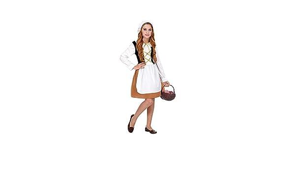 WIDMANN traje Medieval para niña, Multicolor, wdm06618 ...