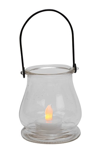 Biedermann & Sons Hanging Glass Bell Tealight Lanterns, Box of 6