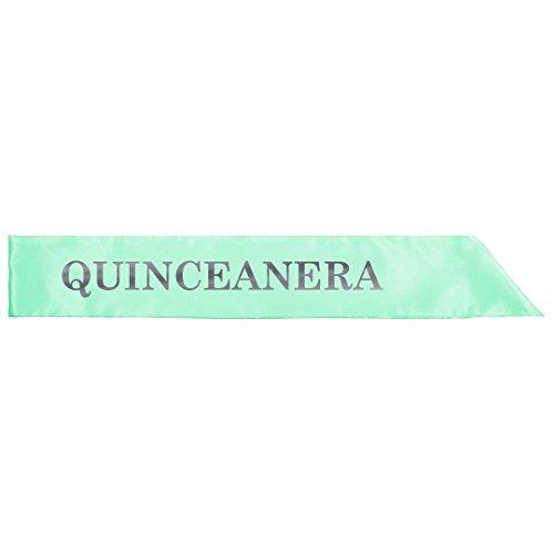 Quince Anos Sash - Silver Metallic Quinceanera 15 Años: Adult Satin Party Sash
