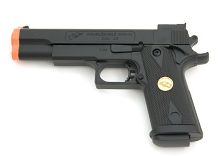 BBTac Airsoft Pistol Handgun Government .45 1911 Spring Loaded Gun (Best Spring Loaded Airsoft Pistol)