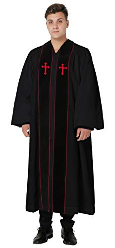 - Ivyrobes Clergy Robe Cleric for Pulpit Black 57(6'0