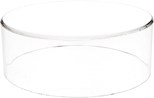 "Plymor Brand Clear Acrylic Round Cylinder Display Riser, 3"" H x 8"" D"