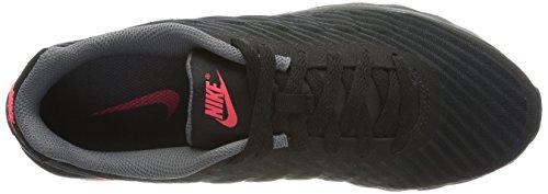 Nike Wmns Internationalist Prm, Chaussures de Sport Femme Schwarz (Black/Dk Grey-White-Solar Red)