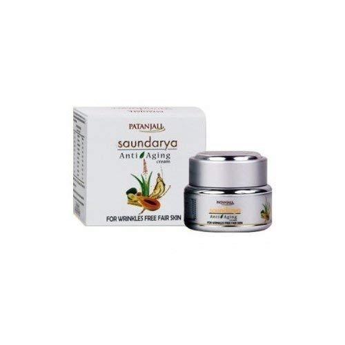 PATANJALI DIVYA Original Creams lotions Saundarya Anti Aging Cream - 50gms Best Skin Care