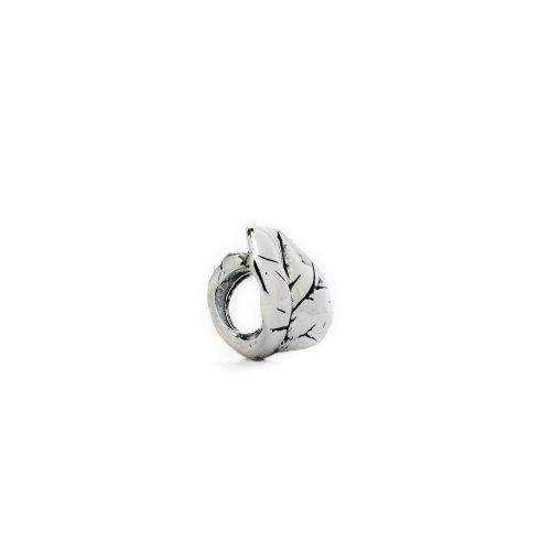 Aspen Leaf Beads (Authentic Novobeads Sterling Silver 1102 Aspen Leaf, Silver)