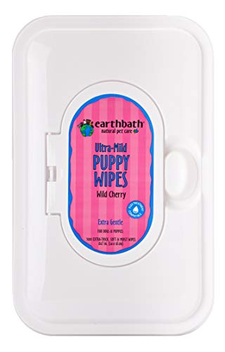 Earthbath PB6S All Natural Puppy Grooming Wipes, 100 Wipes
