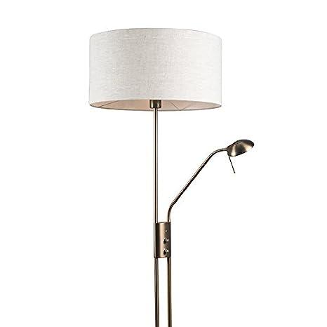 QAZQA Moderno Lámpara de pie LUXOR bronce 50cm pimienta ...