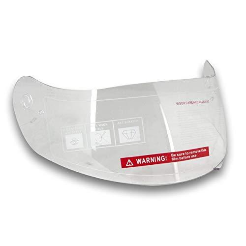 Series Helmet Shield - Hawk Clear Replacement Shield for Hawk H-5XX Helmet Series - One Size