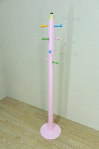 Cesteria Vallada - Perchero infantil lapiz, medidas 30 x 30 x 151 cm, color rosa
