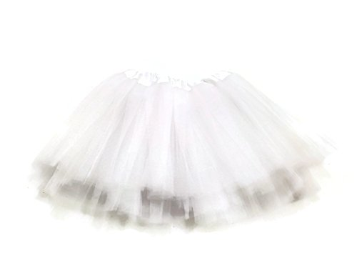 Rush Dance Ballerina Infant/ Little Girls Princess Fairy Costume Recital Tutu (Infant (Newborn - 3 Years), White)