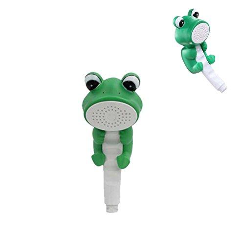 ixaer Cartoon Animal Shower Sprinkler Creative Handheld Children's Shower Head Duck and Frog Fun & Adorable Bath & Shower Wand for Kids Great Gift for Baby and Comfortable Kids' Shower Bathtub (Frog)