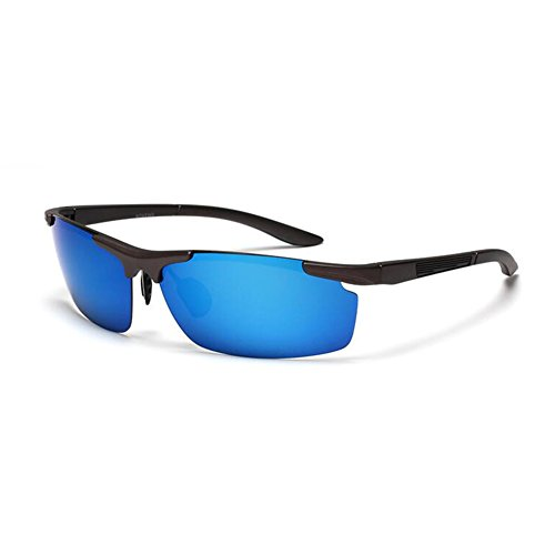 Marco blue 100 Gafas Clásico Sol Libre Protección Color Gafas blue UVA Protección Polarizada UV Gray Solar Retro Medio Gafas Hombres WYYY Gray Aire De De Anti Conducción Luz zwBwqd74