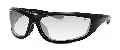 Bobster Charger Sunglasses, Black Frame/Clear Lens