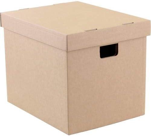 Caja de cartón caja de almacenamiento de vinilo para 100 – 125 lps ((cartón): Amazon.es: Instrumentos musicales