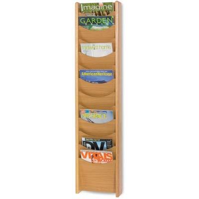 SAF4331MO - Safco 12-Pocket Wood Magazine Rack