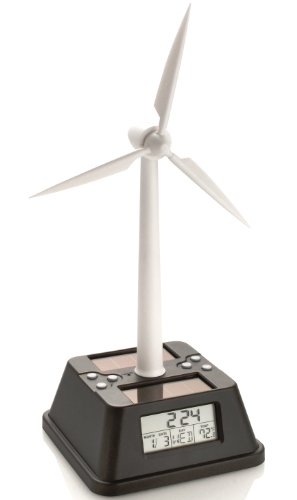 Solar Powered Wind Turbine Desk Clock