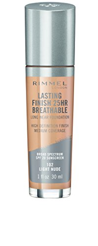 Rimmel Lasting Finish Breathable Foundation, Light Nude, 1 Fluid Ounce