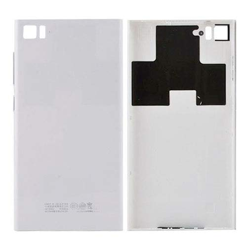 TWVXIAOQIXQG Cell Phones Back Cover Back Housing Cover for Xiaomi Mi3(Black) Repair Spare Parts (Color : White) (Phone Mobile Xiaomi Mi3)