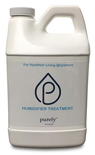 PUREFY Humidifier Treatment - Ultrasonic & Evaporative (68 oz) Hypoallergenic. Unscented. No Residue. Baby Safe. Auto Humidifier Cleaning as Additive. Also Works as Humidifier Cleaner. Healthier Air!
