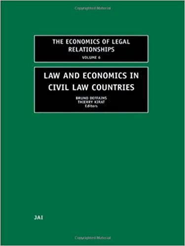 Law and Economics in Civil Law Countries (The Economics of Legal Relationships)