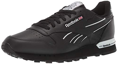 Reebok Men's Classic Leather Sneaker, Black/White/Cold Grey, 8 M US ()