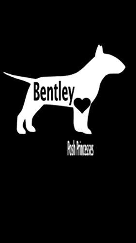 Container Decal - Bull Terrier Personalized Vinyl Decal, Dog Car Window Decal Laptop Sticker, Dog Food Container Decal, White 3.5