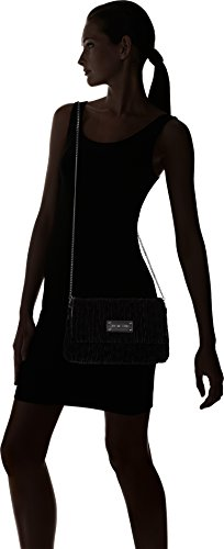 Love Moschino Borsa Fabric Nero - Borse a tracolla Donna, Schwarz (Black), 17x28x5 cm (B x H T)
