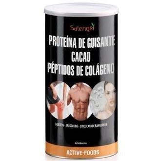 Active Foods Proteína de Guisante con Colágeno y Cacao - 500 gr