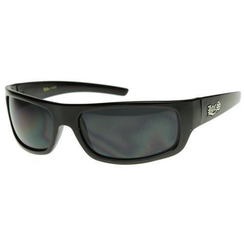 Original LOCS Hardcore OG Gangsta Wraparound Sunglasses w/Dark Lens -