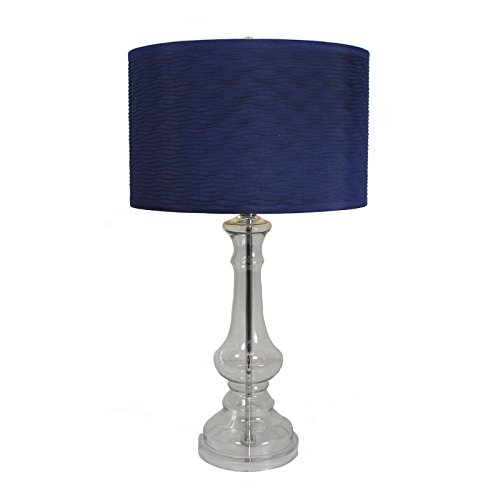 Urban Designs 1382668 Angelina 28 Inch Tall Glass Table Lamp Blue