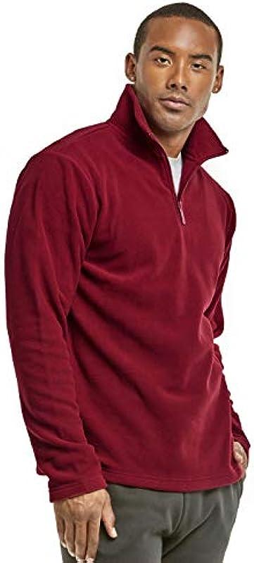 ET TU Męskie-Sweatshirt aus Polar-Fleece mit Viertelreißverschluss: Odzież
