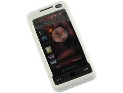 - Silicone Gel Skin Phone Protector White Case For Samsung Omnia i910