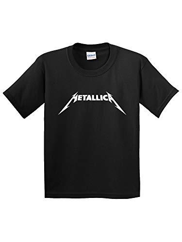 (Trendy USA 925 - Youth T-Shirt Metallica Metal Rock Band Logo Small Black )