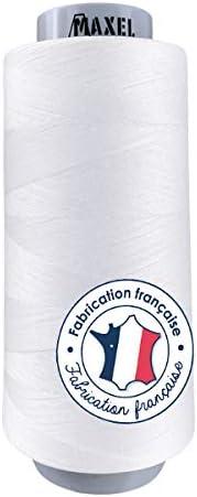 Made in France – Hilos de coser de Poliéster Blanco 2500 m – Bobina para máquina de coser – Certificado Ecogriffe y OEKO-TEX®