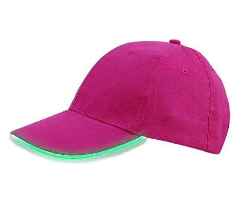 LED Hat,TILO Multicolor LED Baseball Cap Light Glow Bright Women Men Sport Hat Dark For Outdoor Jogging Breathable Snapback Hats Hip Hop Party Holiday Halloween Christmas Rose