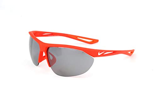 Nike EV0916-600 Tailwind Swift Frame Grey with Silver Flash Lens Sunglasses, Matte Bright Crimson/White ()