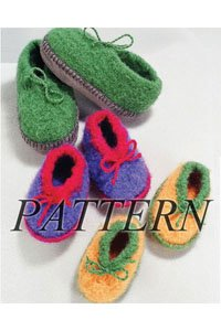 Crocheted Felt Slippers Pattern (Crocheted Felt Slippers)