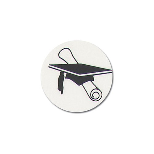 Graduation Hat and Diploma Clear Adhesive Seals - 25 Pack