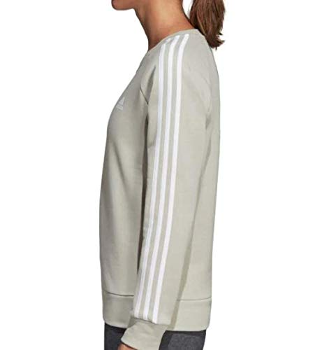 adidas Women's Essentials 3-Stripes Crewneck Sweatshirt (S, Ash Silver) by adidas (Image #2)