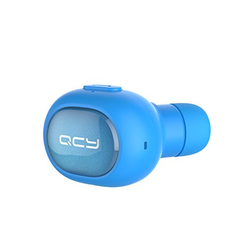Wireless Earbud, QCY Q26 Bluetooth Invisible Earpiece With Mic, Hands-free Stereo noise canceling for Apple iPhone 7, 7 Plus, 6 Plus, 5S, 4S, and Android Phones - Blue(One Pcs)