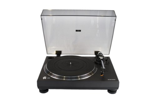 Turntables for Vinyl Records by Connected Essentials - USB Turntable with Preamp (Built-In) and Belt Drive