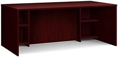 HON BL Laminate Series Office Desk Shell – Rectangular Desk Shell, 72 W, Mahogany HBL2101