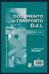 DOCUMENTO DI TRASPORTO D.d.t. triplice copia 50fg. 15x21 cm. MODULISTICA SCREAMO